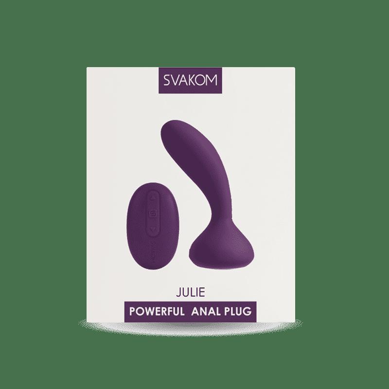 SVAKOM Julie- Plug Vibrador de Próstata y Perineo - Control Remoto-CHERISH